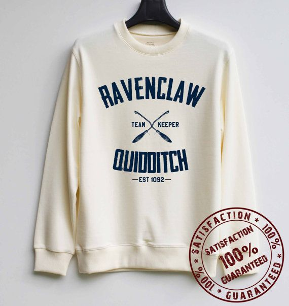 Ravenclaw Quidditch Shirt Harry Potter Quidditch Sweatshirt Sweater Hoodie Shirt – So, that's what I want for my birthday this year haha