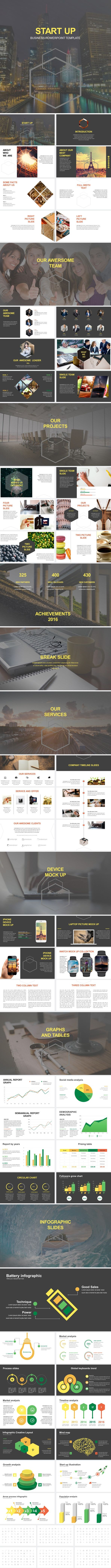 Start Up Business Powerpoint Template #powerpoint #pptx #social media #medicine • Download ➝ https://graphicriver.net/item/start-up-business-powerpoint-template/18704804?ref=pxcr