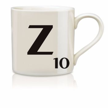 Scrabble Mug Z: Scrabble mugs – collect the set for when you have 25 friends round for tea.