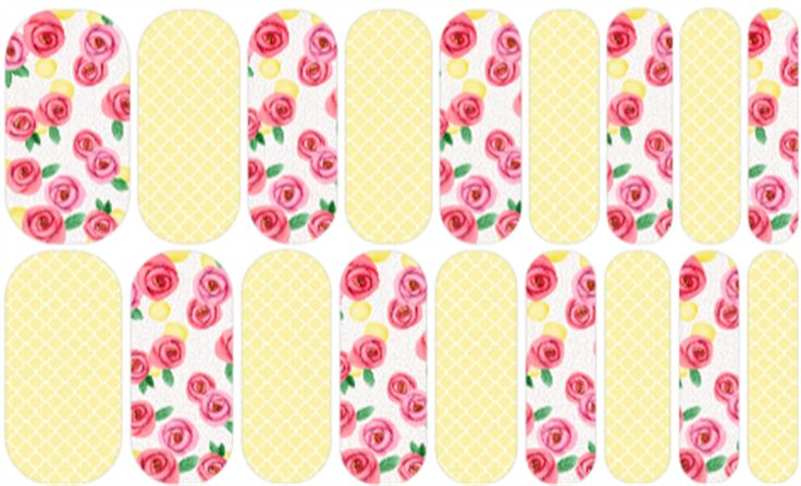 Lemons & Roses | Jamberry | Nail art design by Rachael Snow using Jamberry Nail Art Studio | Join my Facebook group to see more! https://www.facebook.com/groups/snowberriesvip/| Jamberry NAS, Nail Art Studio,  #snowberriesnas #manicure #jamberry #nailwraps #nailswag #nailedit #naildesign #jamberrynails #lemons #lemonade #roses #yellow
