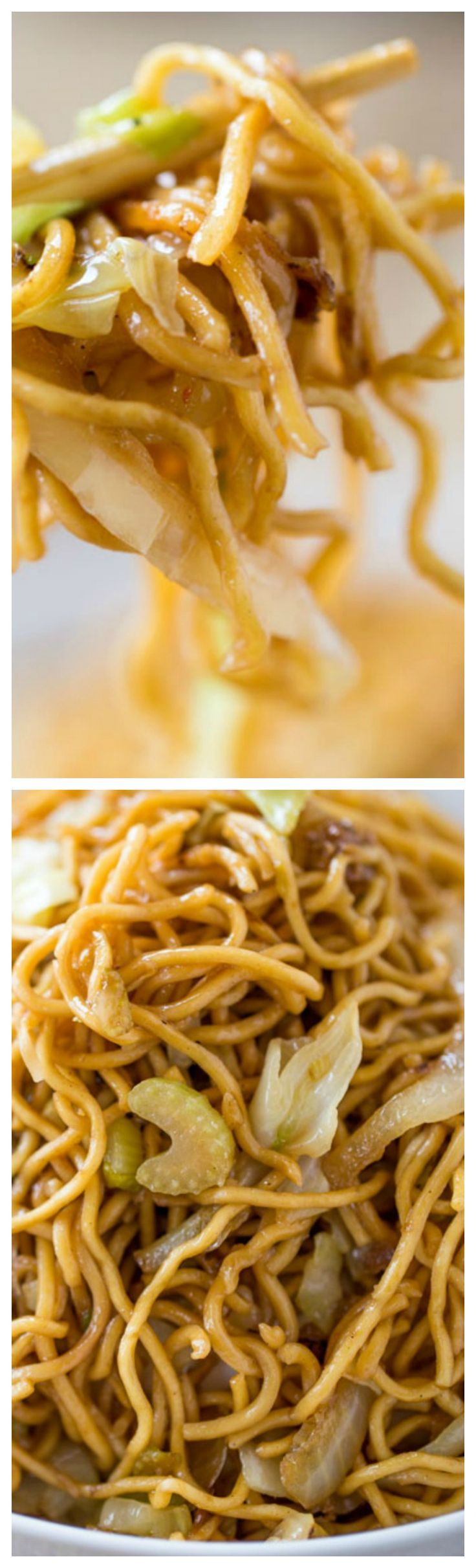 Panda Express Chow Mein Copycat Recipe ~ Tastes exactly like you're sitting down at the restaurant eating your combo plate except half the oil and it just takes a few minutes to make!