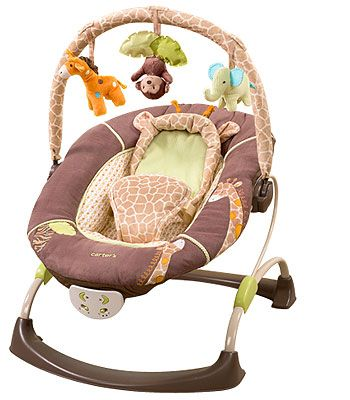 Carter's Cuddle Me Musical Bouncer - Wild Life  http://www.toysrus.com/product/index.jsp?productId=4344772=search