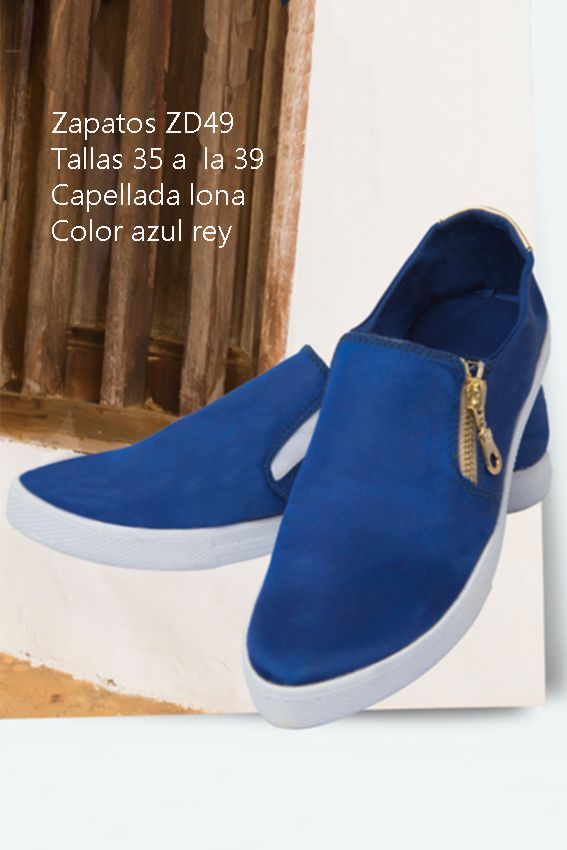 Cómodos zapatos en lona Referenia: ZD49 Tallas: 35 a la 39 Color: Azul rey Precio: $65.000