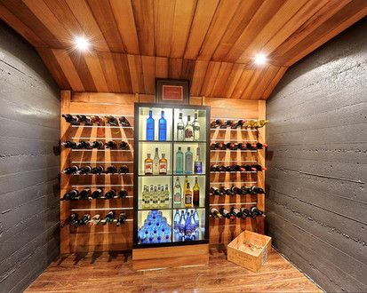 Modern House Remodel, Modern Wine Cellar, Montreal