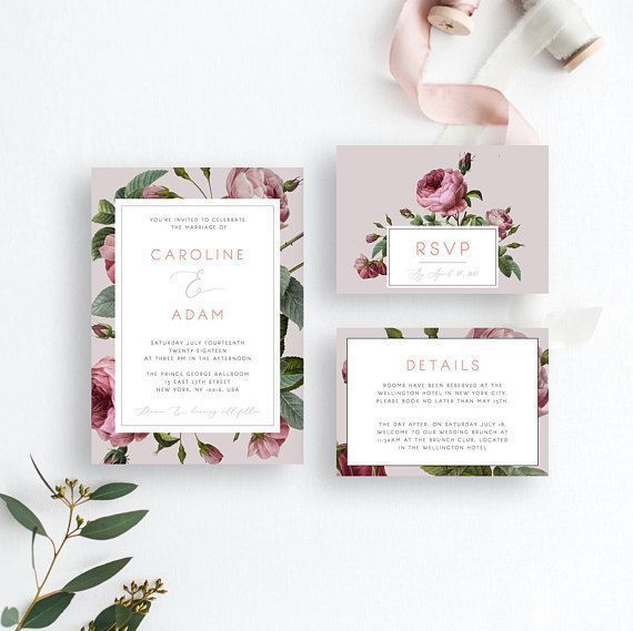 Red Rose Wedding Invitation Suite Template English Rose Rose Wedding Invitations Red Rose Wedding Invitations Red Rose Wedding