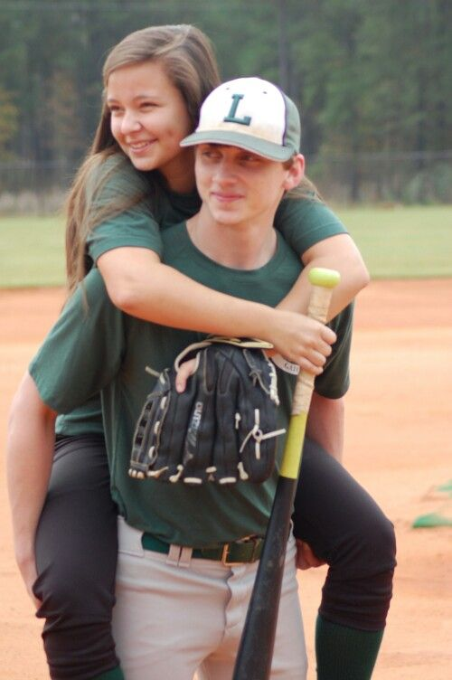 Baseball softball couple pictures