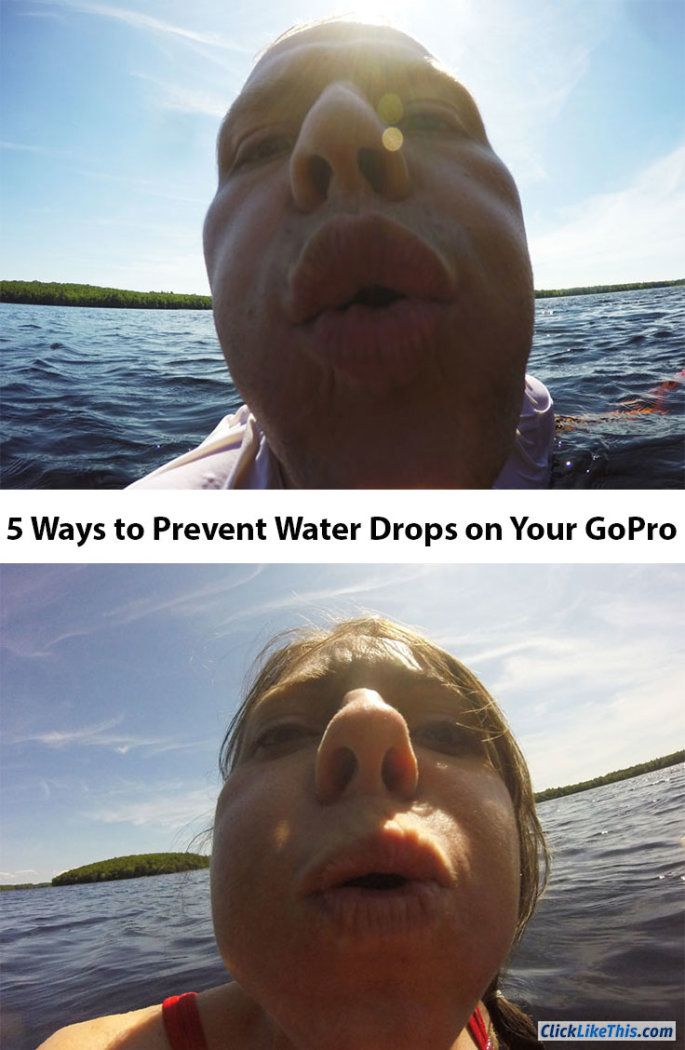 Bryan and I blowing water drops off the GoPro lens. Photos from a post about preventing water drops from ruining GoPro photos. A couple of strange, funny faces :)