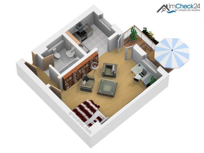 Die gemütliche Altbauwohnung verfügt über ein Zimmer. Angrenzend hierzu befinden sich Küche sowie ein kleiner Flur, durch den in das kleine innenl…