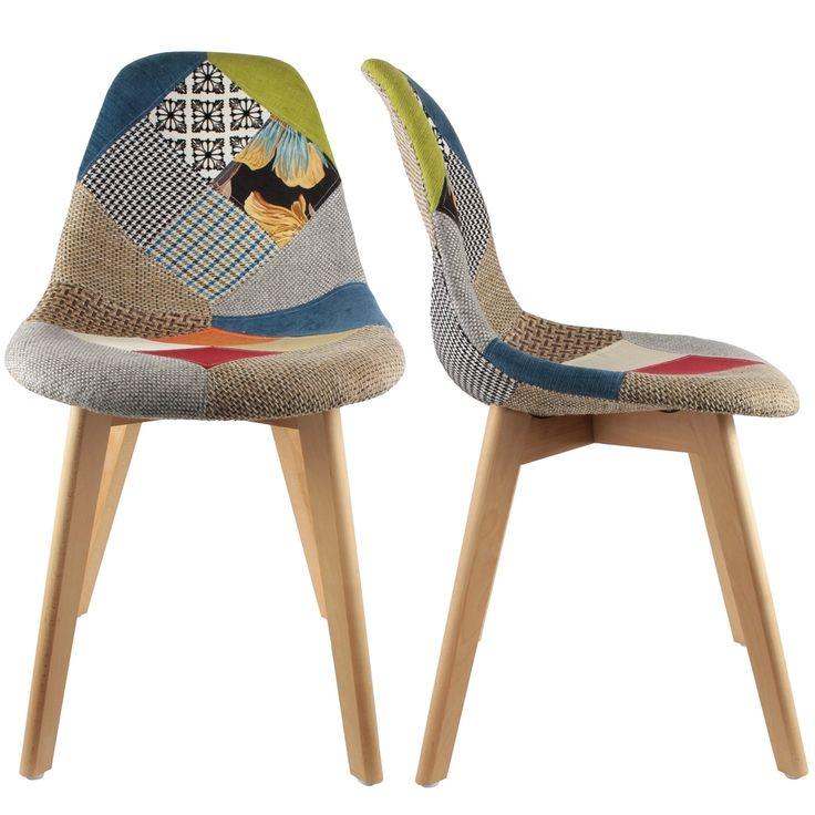 best chaise stokholm patchwork pieds bois lot de chaise design topkoo with chaise eleven. Black Bedroom Furniture Sets. Home Design Ideas
