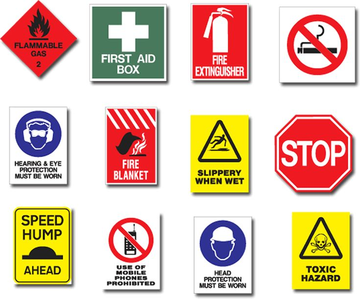 Learning about health and safety signs