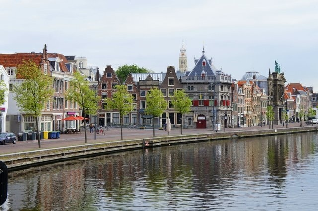 The canal in Haarlem, Netherlands