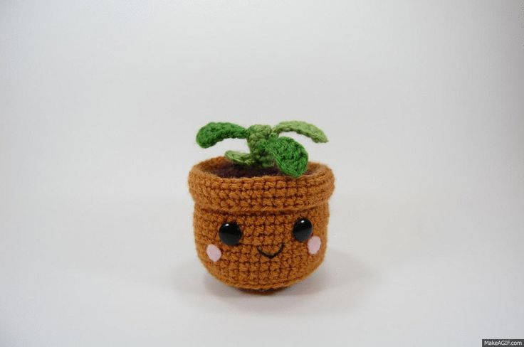 CRAFTYisCOOL: FREE Pattern! Pull and Grow Amigurumi Plant