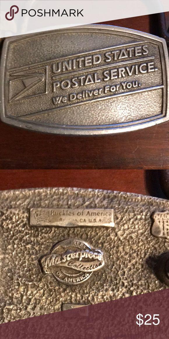 United States postal service belt buckle USPS belt buckle by buckled of America buckles of america Accessories