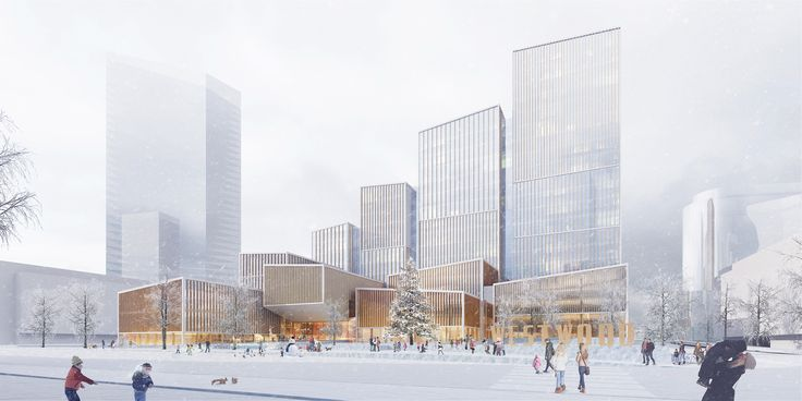 Gallery of Henning Larsen Wins Competition for Microclimate-Creating Civic Center in Toronto - 3