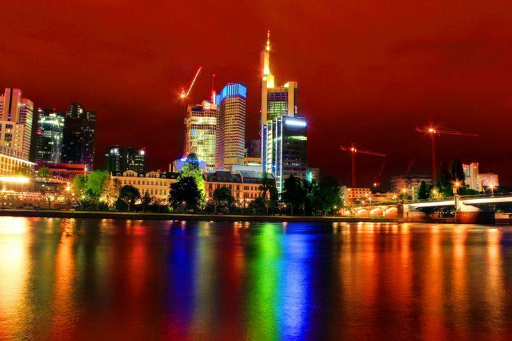 Frankfurt Red Skyline by Julia Fine Art © Julia Apostolova on 500px