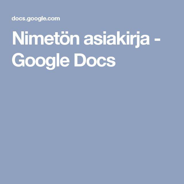 Nimetön asiakirja - Google Docs