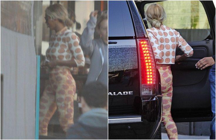 Beyoncé adere a dieta vegana e sai à rua vestida de pizza (sim, pizza!)