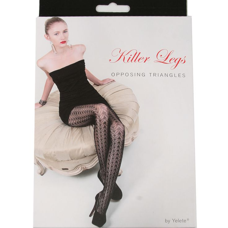 AOneBeauty.com - Killer Legs Fishnet Pantyhose - Opposing Triangles