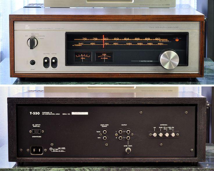 InJapan.ru — LUXMAN FM/AM стерео тюнер LUXMAN T-550 хороший товар — просмотр лота