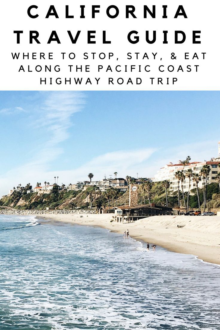 "Ready for the road trip of your lifetime? If you're looking to do a fun road trip along California's Pacific Coast Highway, look no further than this handy travel guide to get you there. In this travel guide to Highway 1, you'll get an itinerary with all your stops, drive times, as well as ""good to know"" information before and during your trip. Buckle up! Here we go!"