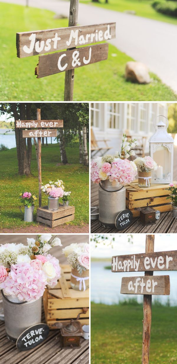 """That sign! Tervetuloa means """"welcome"""" in Finnish! My grandmother had a song she sings when we come over about welcoming us to her home. How fitting for a wedding."""