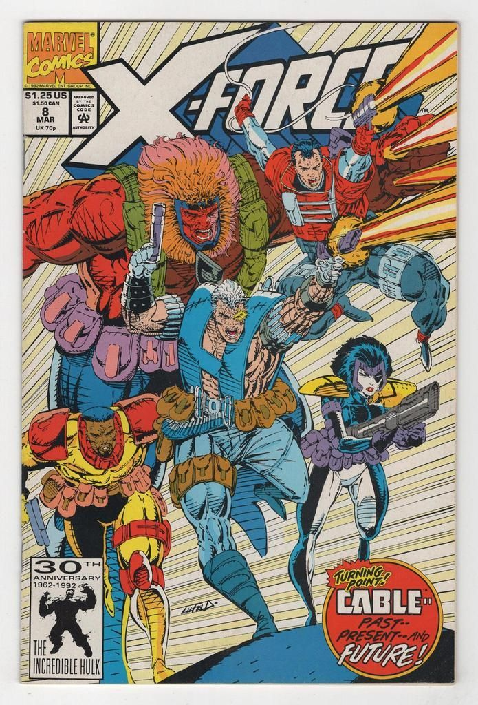 X Force 8 Regular Rob Liefeld Cover 1992