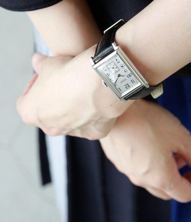 CIRCA│レザーベルト×シルバーケース腕時計 ct115t-tr - Piu di | キナリノモール