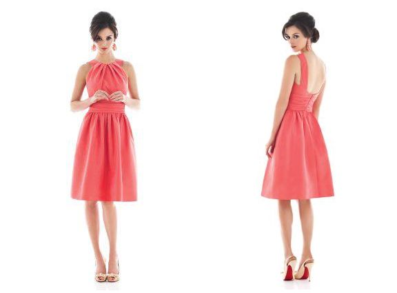 of casual coral colored bridesmaid dresses | Wedding Ideas