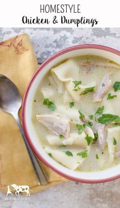 Chicken and Dumplings are the quintessential winter comfort food and these Southern Homestyle Chicken & Dumplings are even better than what you'll find at Cracker Barrel!