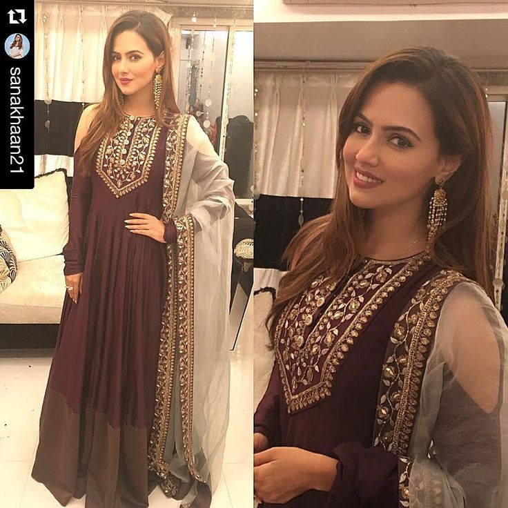 Sana Khan in Payal Singhal.