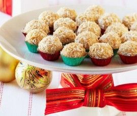 White Choc Coconut and Lime Snow Balls: Another delicious seasonal recipe from the Nestle Christmas collection - featuring coconut and white chocolate. http://www.bakers-corner.com.auhttps://www.bakers-corner.com.au/recipes/truffles/white-choc-coconut-and-lime-snow-balls/