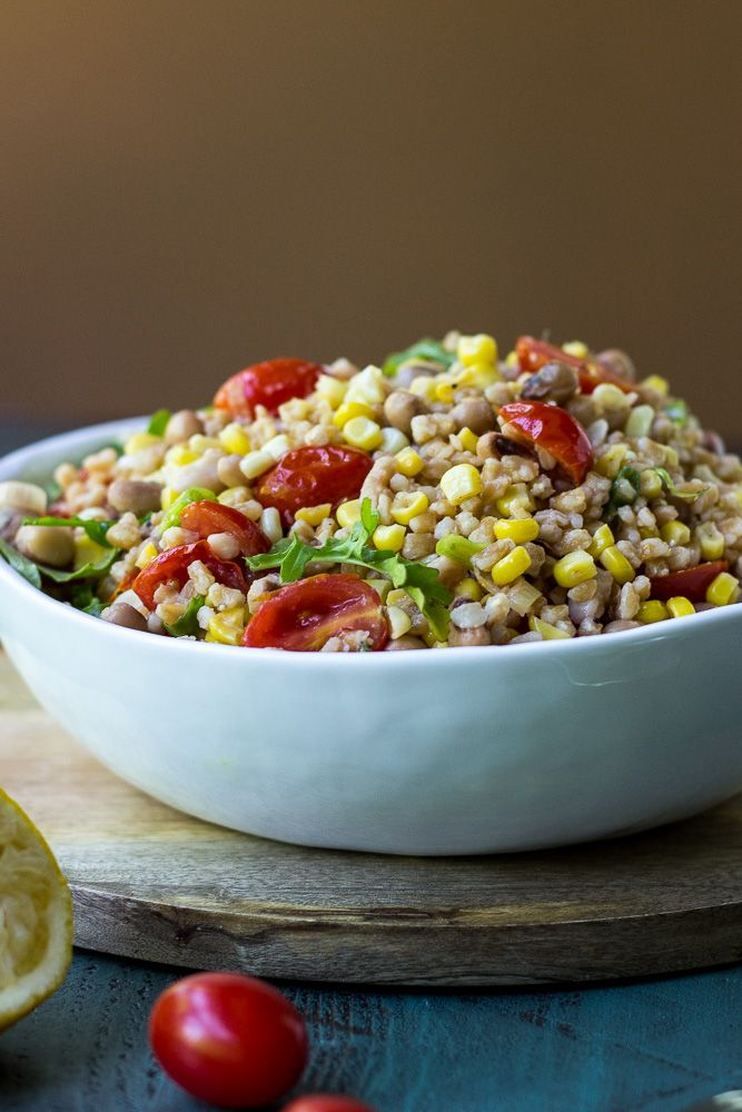 Farro, Corn, and Tomato Salad