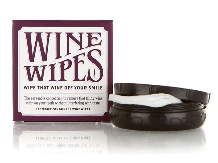 Wine Wipes, Mirror Compact With 15 Wipes X 3 Compacts (Total 45 Wipes)