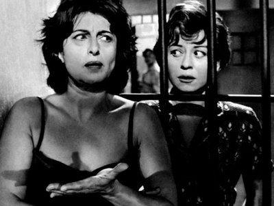 Anna Magnani e Giulietta Masina, Nella città l'inferno