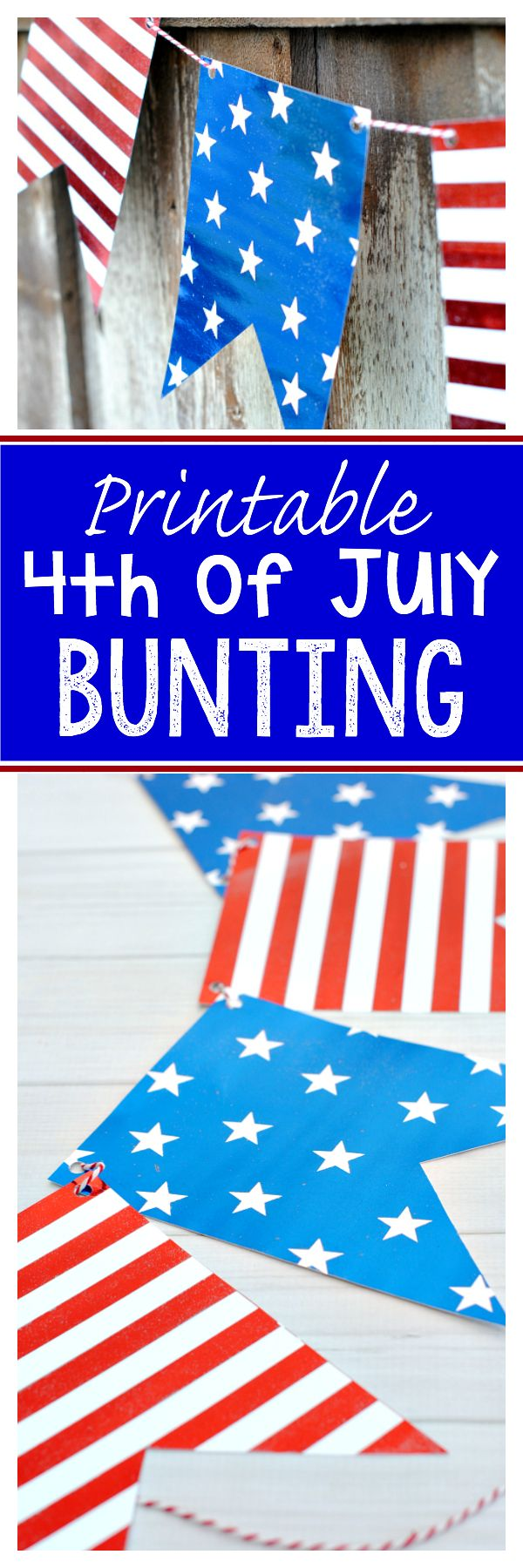 Printable Patriotic Bunting (and see what you can do with foil!)