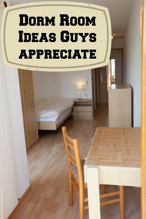 Check out these college dorm room ideas guys will appreciate for making dorm life more comfortable. Some of these dorm room ideas are fun too!