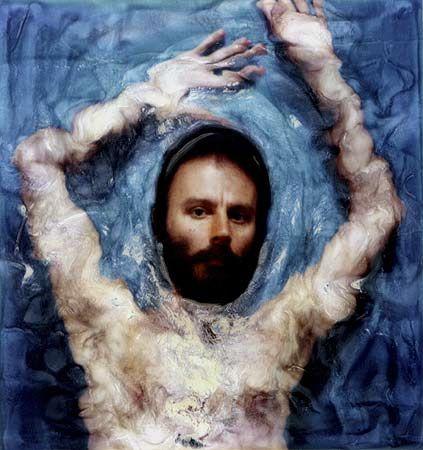 "Lucas Samaras, ""Photo-transformation"", 1976. Polaroid photo transformation."