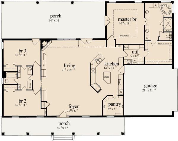 Best 25 Small Open Floor House Plans Ideas On Pinterest Concept