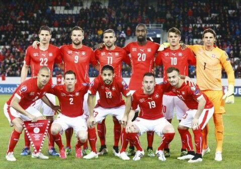 Swiss Football Team ⚽ Fabian Schär,  Haris Seferovic,  Johan Djourou, Granit Xhaka, Yann Sommer, Gokhan Inler, Stephan Liechtsteiner, Ricardo Rodriguez, Josip Drimic and Xherdan Shaqiri ♡