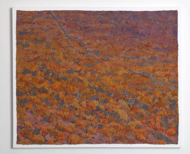Skala Eressos: Early Evening by textile artist Jan Beaney