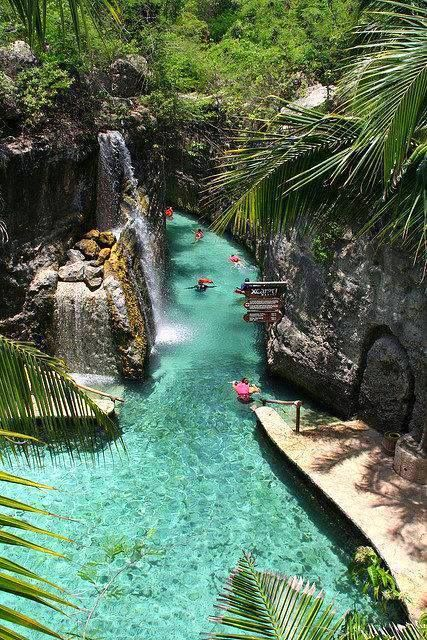 Float down the River of Xcaret in Riviera Maya, Mexico