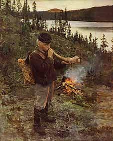 Shepherd Boy from Paanajärvi; by Akseli Gallen-Kallela (1892)