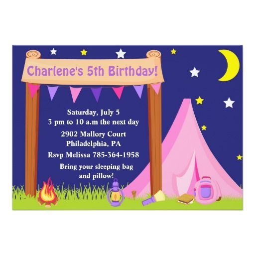 419 best camping and sleepover birthday party invitations images outdoor backyard camping birthday invitation stopboris Image collections