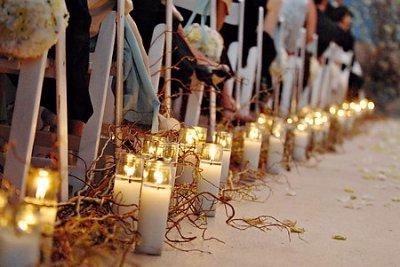 another wedding aisle idea- use led candles