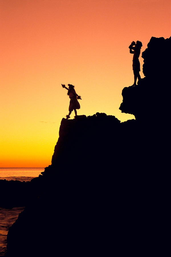 Hula Silhouette Fine Art Print - William Waterfall: