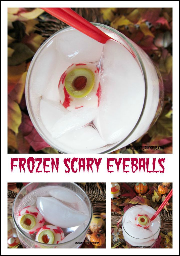 Frozen Scary Eyeballs to freak out your Halloween party…