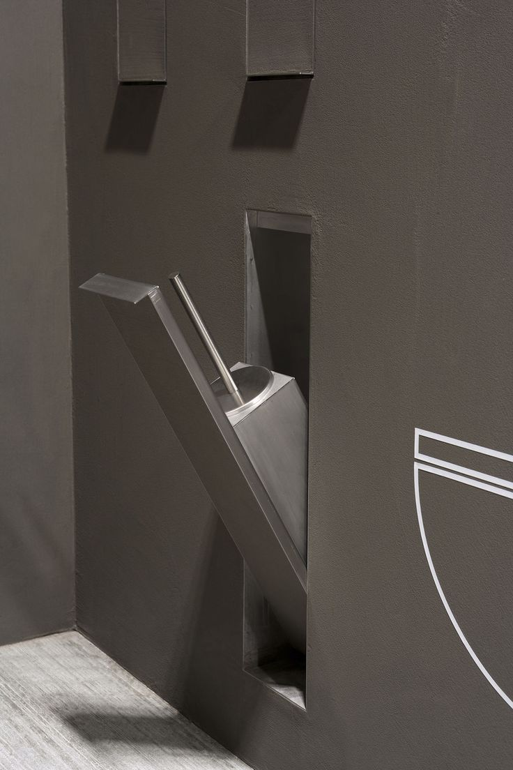 Edelstahl Toilettenbürste / Zum Einbauen SESAMO By Arkimera ANTONIO LUPI