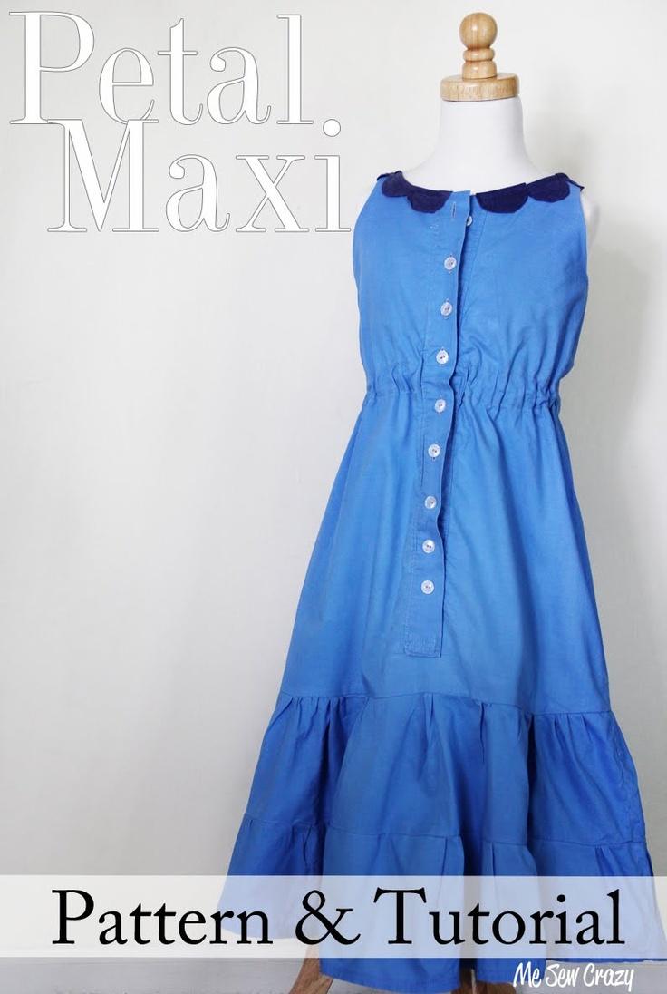 Tiered maxi dress free pattern