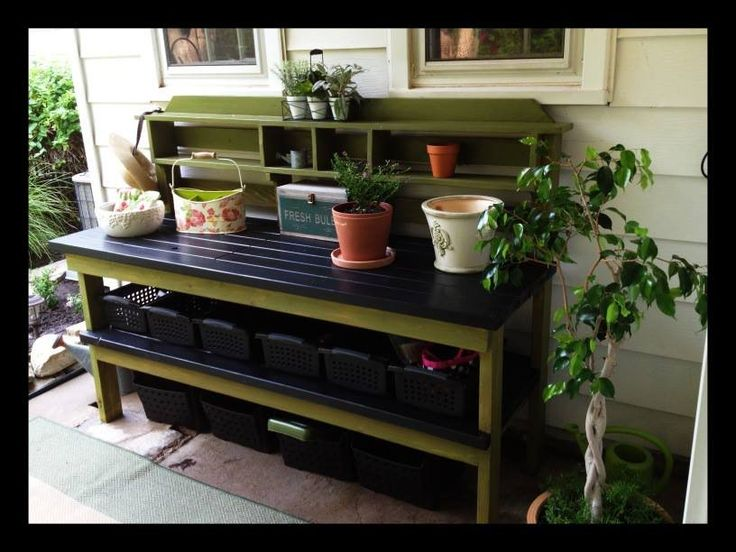 Cedar Potting Bench By Tesla77 Woodworking Community Gardening Potting