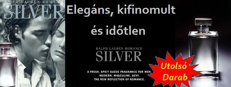 Ralph Lauren Romance Silver férfi parfüm Az ezüst letisztult hűvössége: elegáns, kifinomult, időtlen. Ralph Lauren férfi illata a Romance Silver, sajátságos módon közelíti meg a férfiasság fogalmát.  A friss fűszeres bőr- illat tökéletes egyensúlyt teremt az egyszerűség, a természetesség és az egyediség, a nem szokványos között.  Főbb összetevői a cabernet szőlő, a mandarin, a dohányvirág, a bőr és a pézsma. Szexi egyszerű, modern.